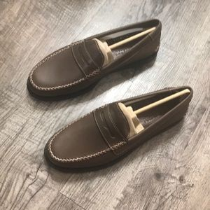 NWT Mens sperry Brown penny loafer 8.5